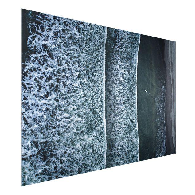 Aluminium Print - Luftbild - Der Herausforderer - Querformat 2:3