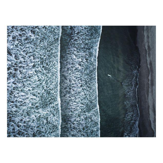 Aluminium Print - Luftbild - Der Herausforderer - Querformat 3:4