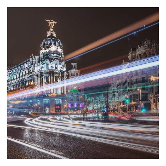 Alu-Dibond Bild - Madrid Traffic