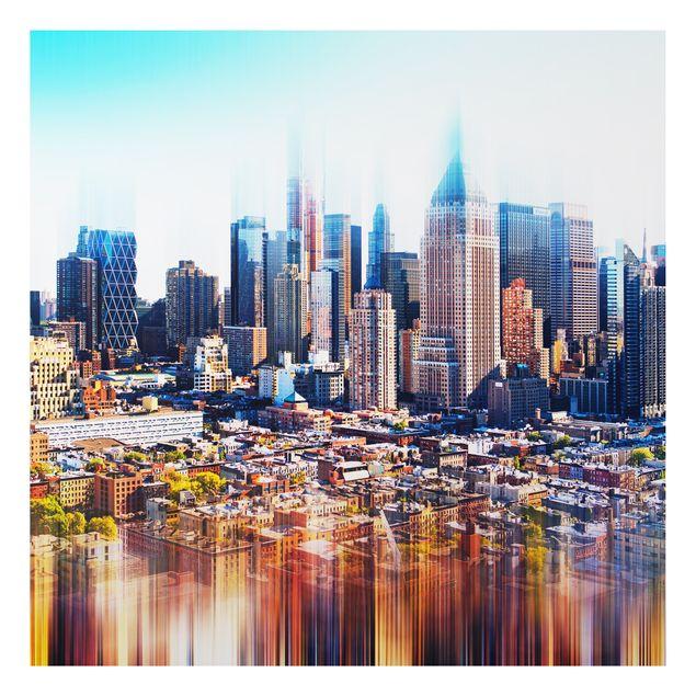 Alu-Dibond Bild - Manhattan Skyline Urban Stretch