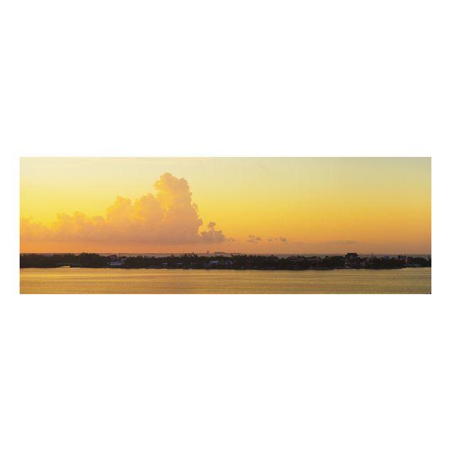 Alu-Dibond Bild - Mexiko Sonnenuntergang