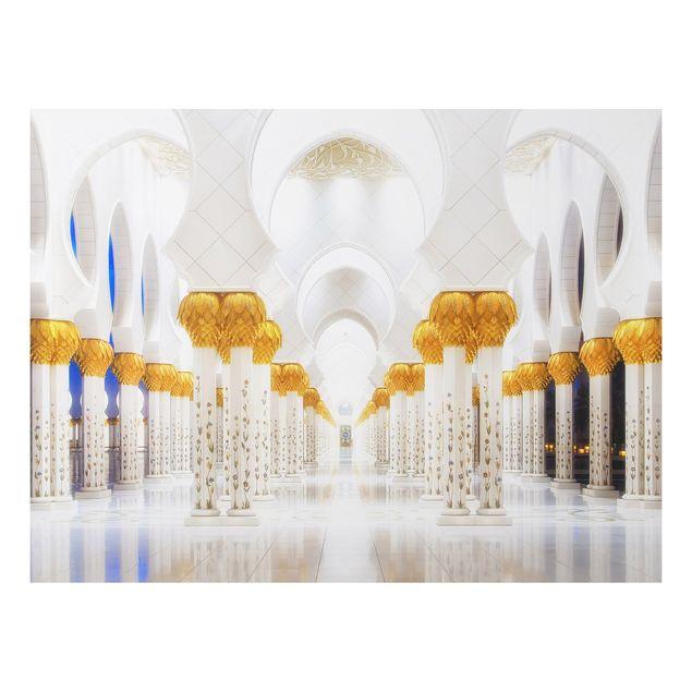 Alu-Dibond Bild - Moschee in Gold