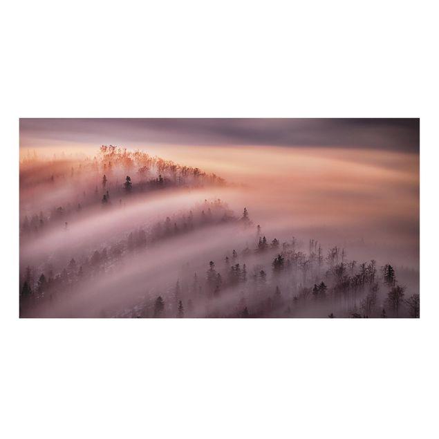 Aluminium Print - Nebelflut - Querformat 1:2