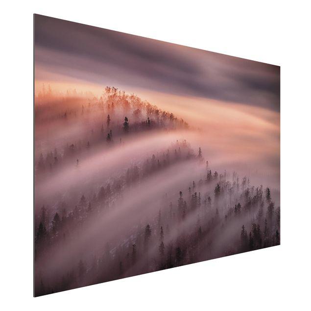 Aluminium Print - Nebelflut - Querformat 2:3