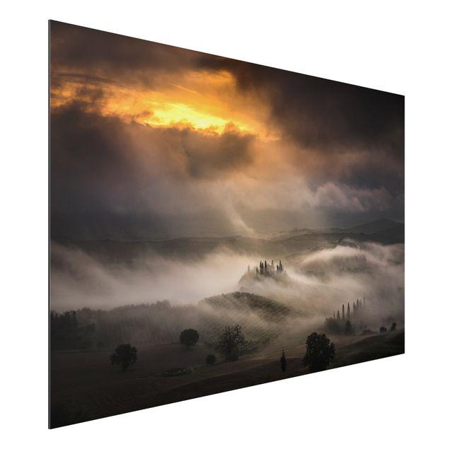 Alu-Dibond Bild - Nebelwellen