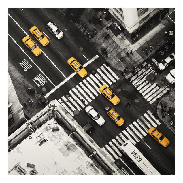 Aluminium Print - New York City Cabs - Quadrat 1:1
