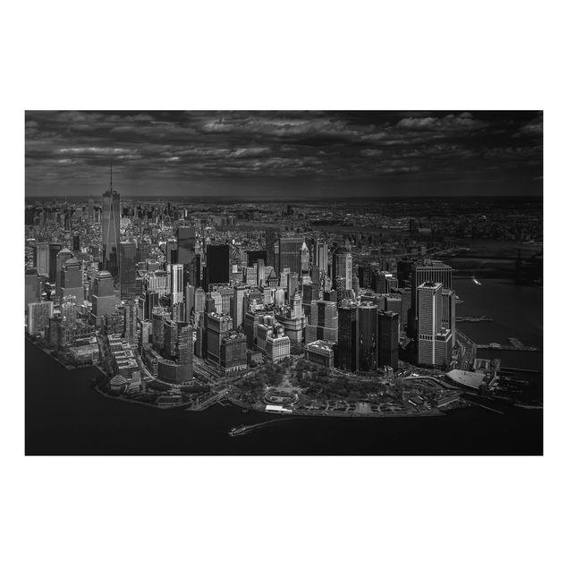 Aluminium Print - New York - Manhattan aus der Luft - Querformat 2:3