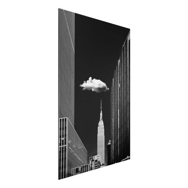 Aluminium Print - New York mit einzelner Wolke - Hochformat 3:2