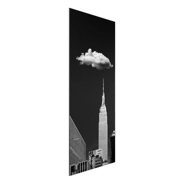 Aluminium Print - New York mit einzelner Wolke - Panorama Hochformat