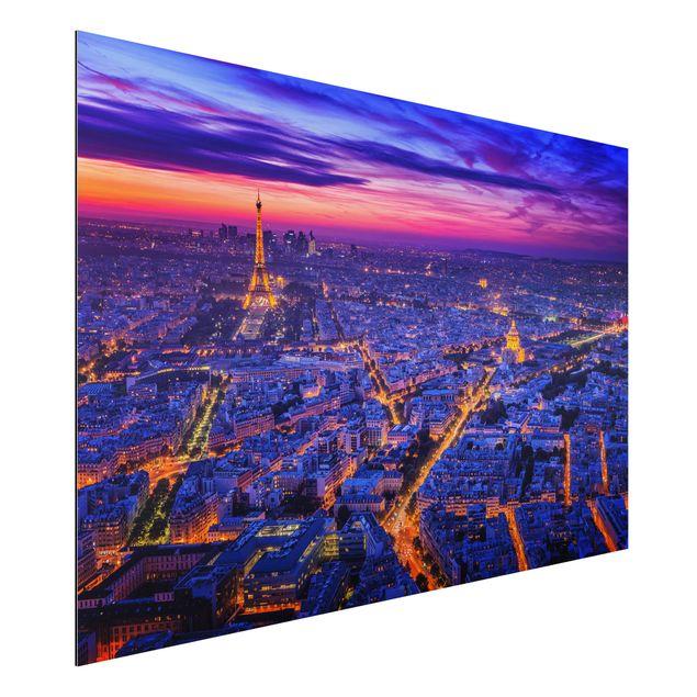 Aluminium Print - Paris bei Nacht - Querformat 2:3