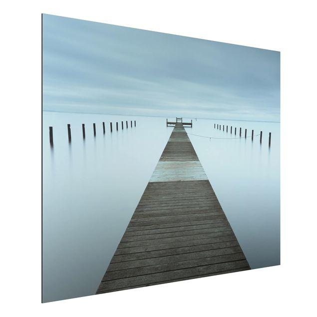 Aluminium Print - Pier in Schweden - Querformat 3:4
