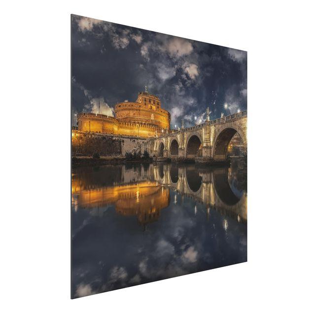 Alu-Dibond Bild - Ponte Sant'Angelo in Rom