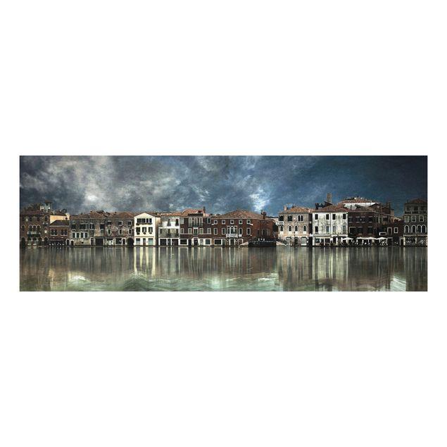 Alu-Dibond Bild - Reflexionen in Venedig