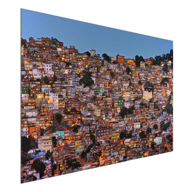 Aluminium Print - Rio de Janeiro Favela Sonnenuntergang - Querformat 2:3