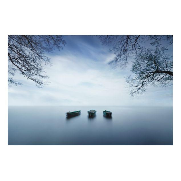 Alu-Dibond Bild - Ruhe auf dem See