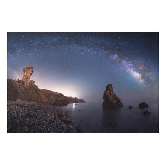 Alu-Dibond Bild - Sea of galaxies