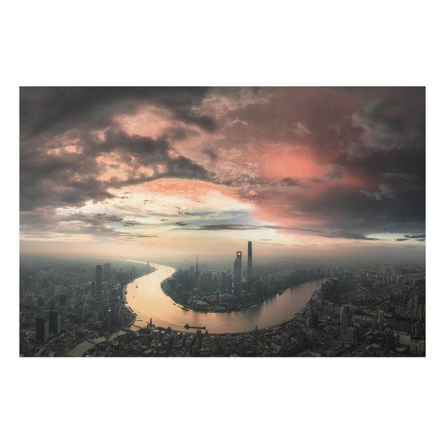 Aluminium Print - Shanghai am Morgen - Querformat 2:3