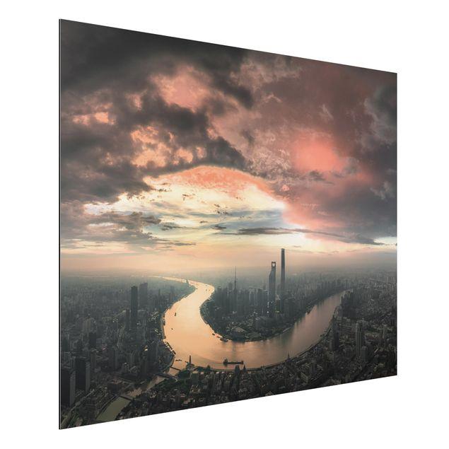 Aluminium Print - Shanghai am Morgen - Querformat 3:4