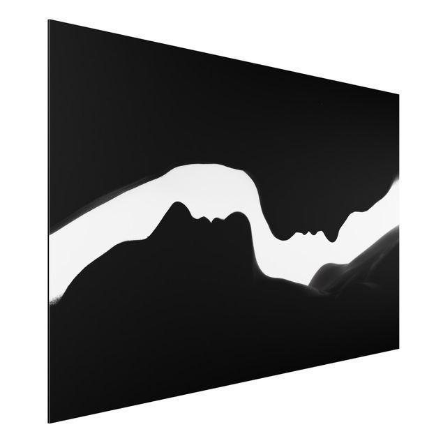 Alu-Dibond Bild - Silhouetten