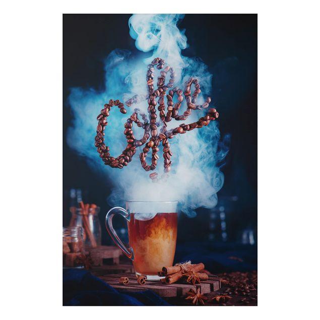 Alu-Dibond Bild - Smell the coffee