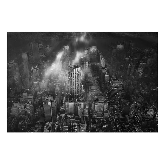 Aluminium Print - Sonnenlicht über New York City - Querformat 2:3