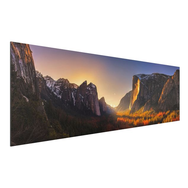 Alu-Dibond Bild - Sonnenuntergang im Yosemite