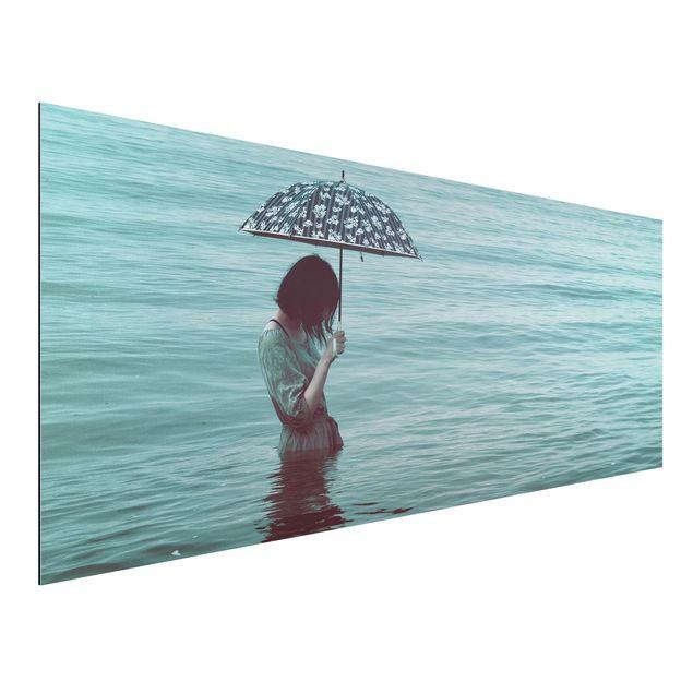 Aluminium Print - Spaziergang im Wasser - Panorama
