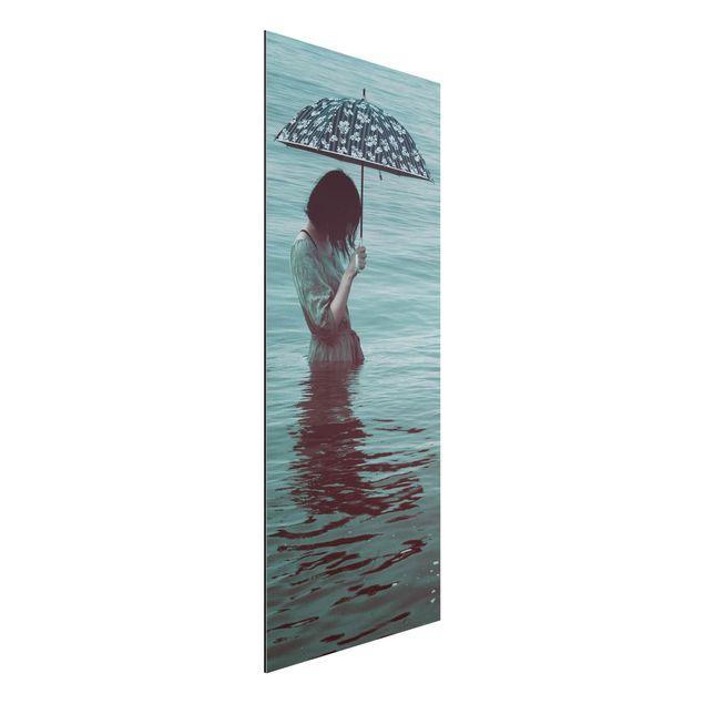 Aluminium Print - Spaziergang im Wasser - Panorama Hochformat