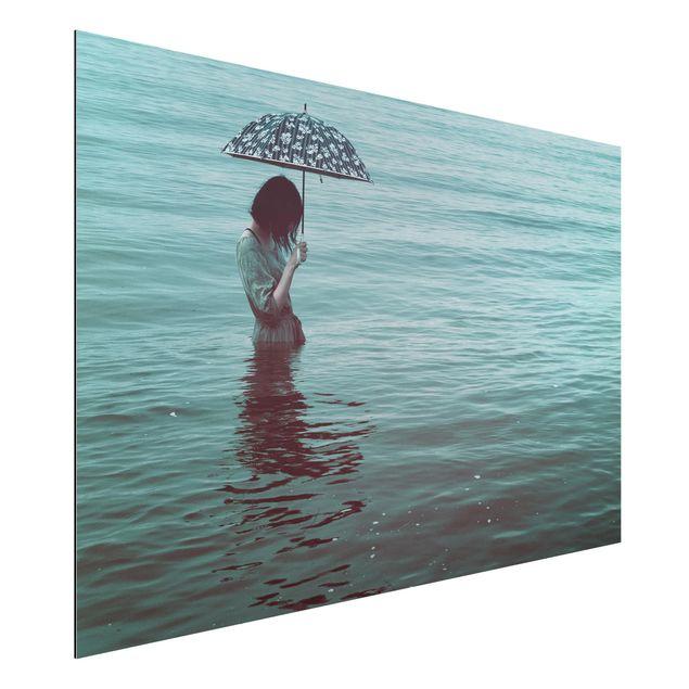Aluminium Print - Spaziergang im Wasser - Querformat 2:3