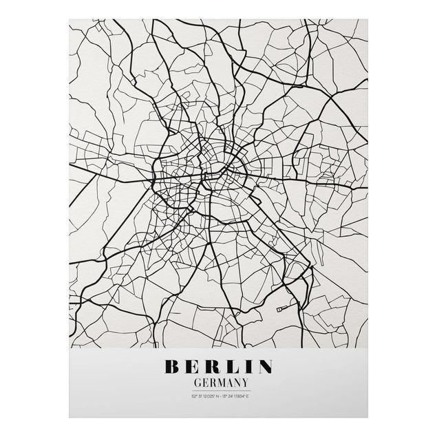 Alu-Dibond Bild - Stadtplan Berlin - Klassik
