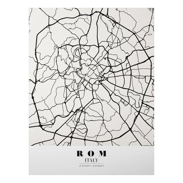 Alu-Dibond Bild - Stadtplan Rom - Klassik