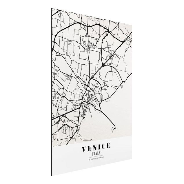 Alu-Dibond Bild - Stadtplan Venice - Klassik