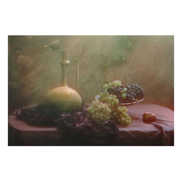 Alu-Dibond Bild - Stillleben mit Früchten