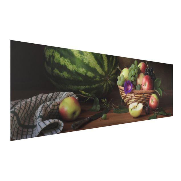 Alu-Dibond Bild - Stillleben mit Melone