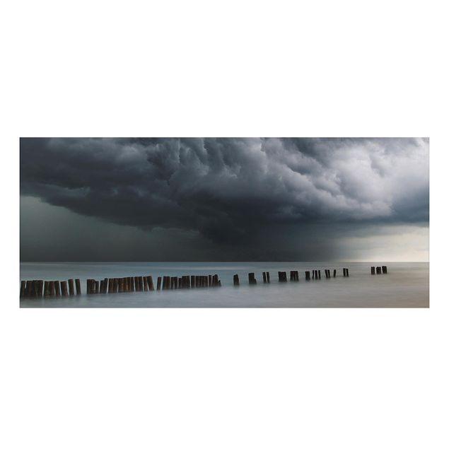 Aluminium Print - Sturmwolken über der Ostsee - Panorama