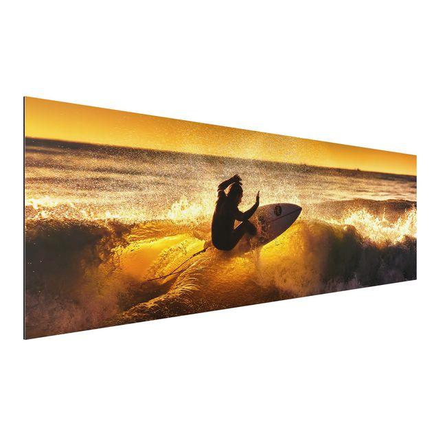 Alu-Dibond Bild - Sun, Fun and Surf