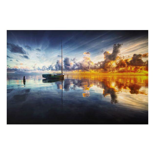 Alu-Dibond Bild - Time For Reflection