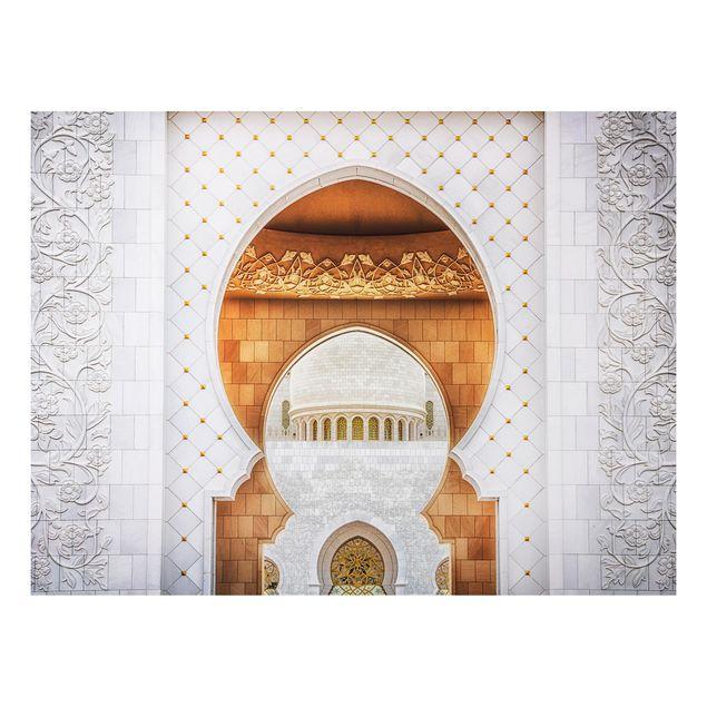 Alu-Dibond Bild - Tor der Moschee