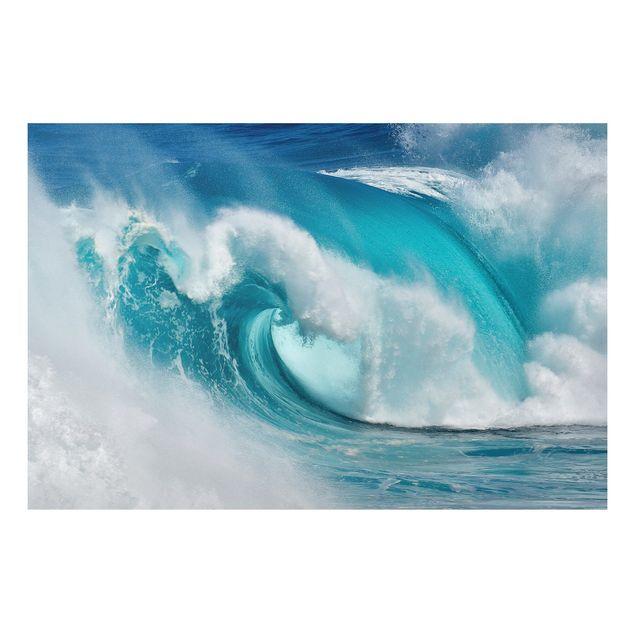 Alu-Dibond Bild - Tosende Wellen