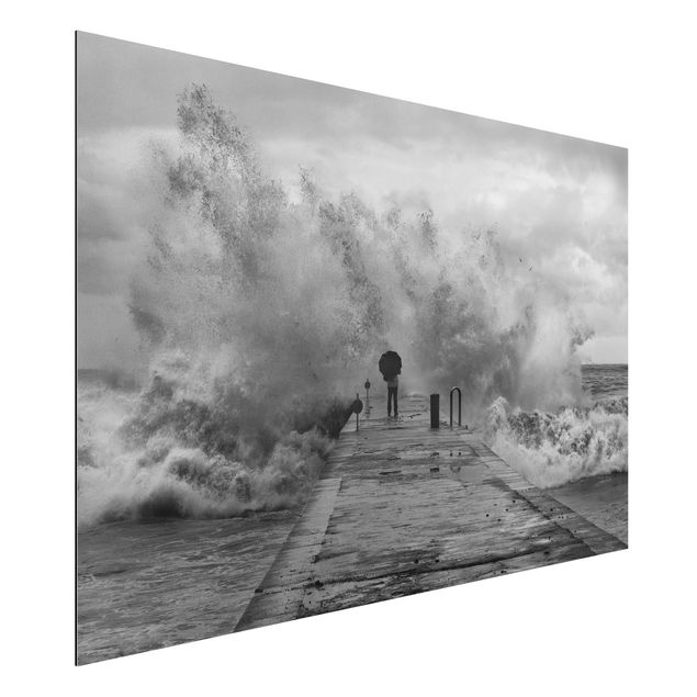 Alu-Dibond Bild - Tosendes Meer