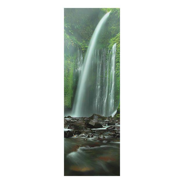 Alu-Dibond Bild - Tropischer Wasserfall