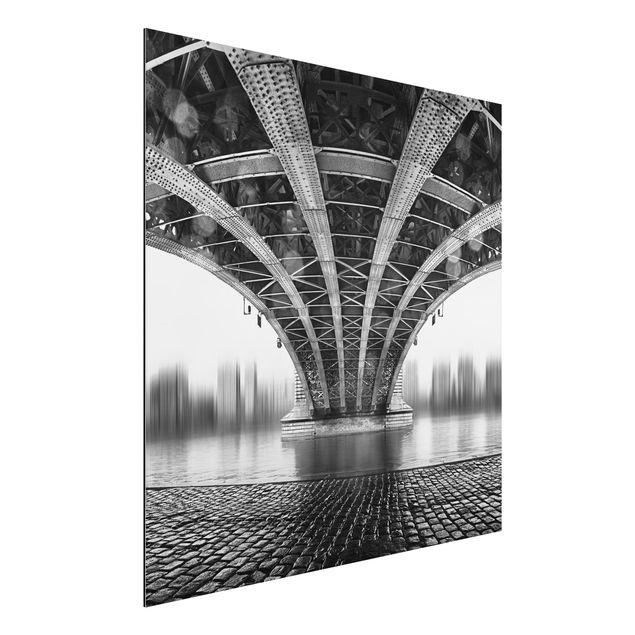 Alu-Dibond Bild - Under The Iron Bridge