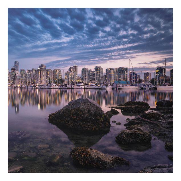 Alu-Dibond Bild - Vancouver im Sonnenuntergang