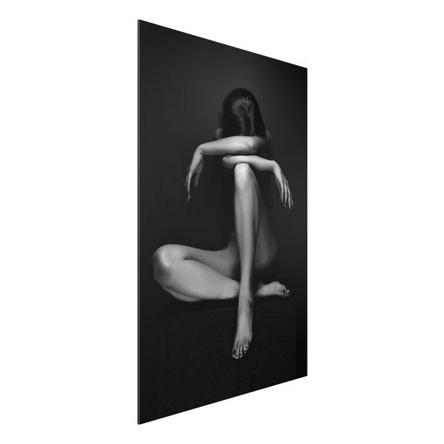 Alu-Dibond Bild - Verzweifelte Frau