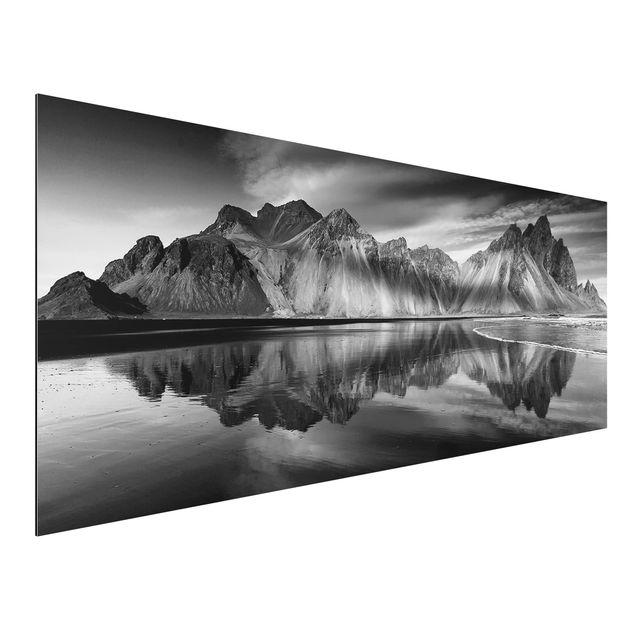 Aluminium Print - Vesturhorn in Island - Panorama