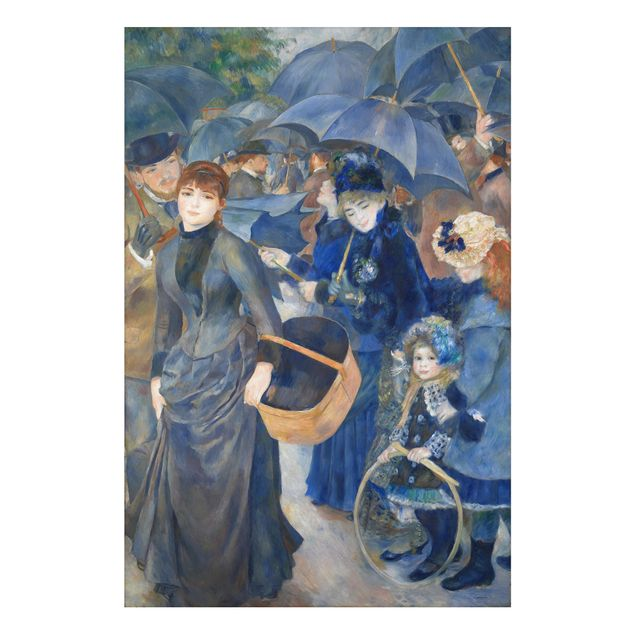 Alu-Dibond Bild - Auguste Renoir - Die Regenschirme