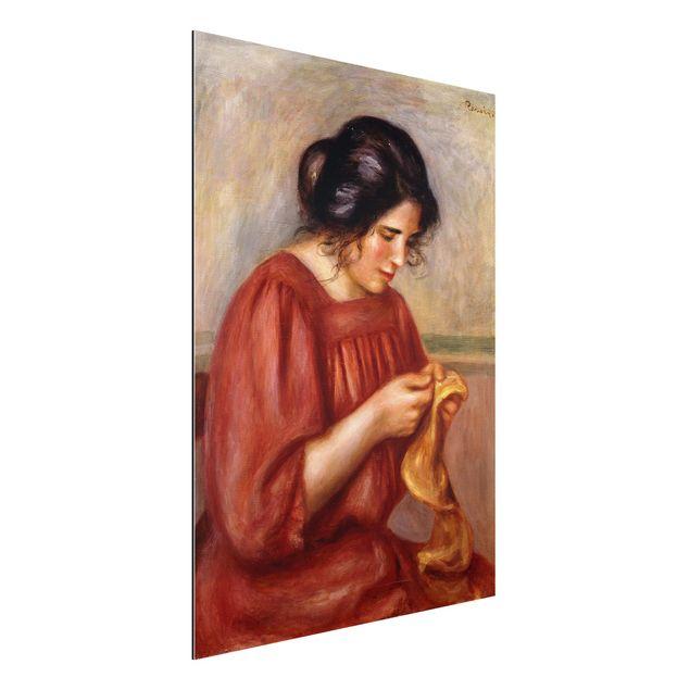 Alu-Dibond Bild - Auguste Renoir - Gabrielle beim Stopfen