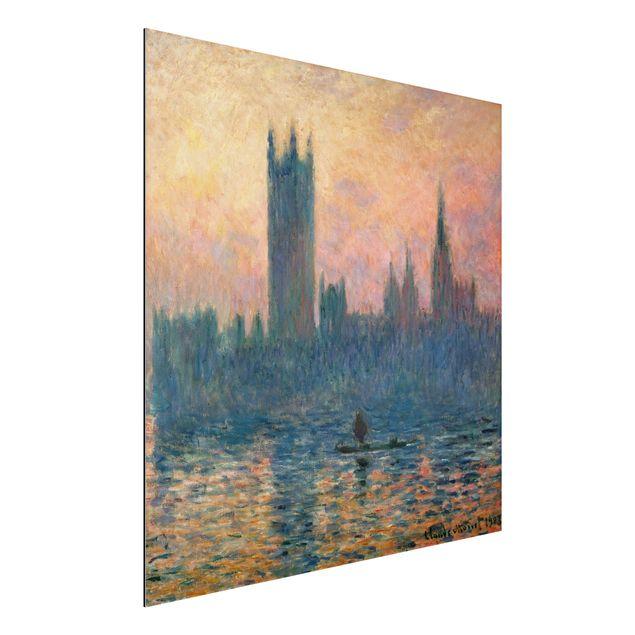 Alu-Dibond Bild - Claude Monet - Das Parlament in London bei Sonnenuntergang