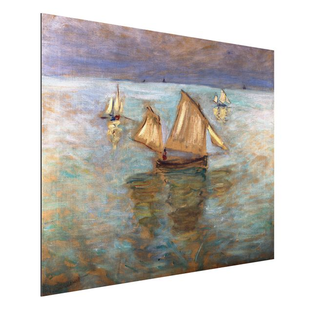 Alu-Dibond Bild - Claude Monet - Fischerboote bei Pourville