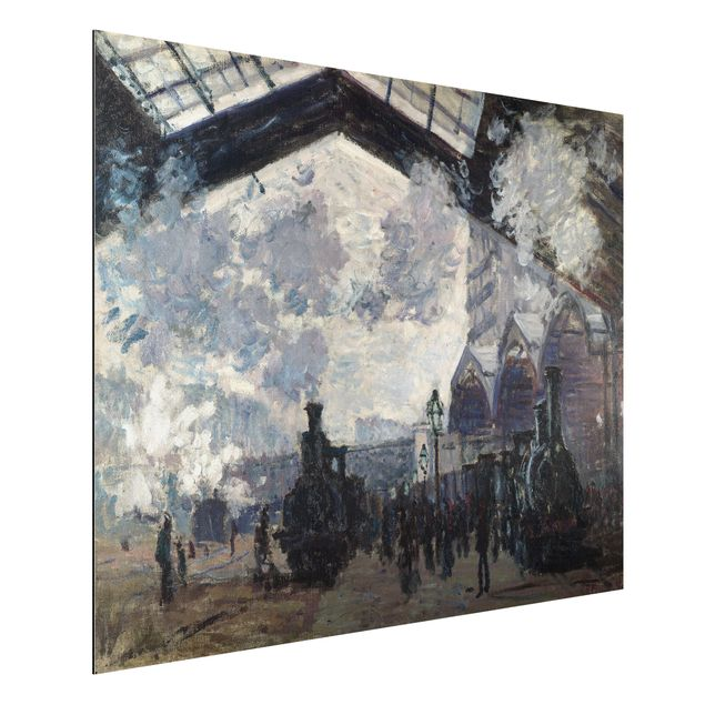 Alu-Dibond Bild - Claude Monet - Der Gare Saint Lazare